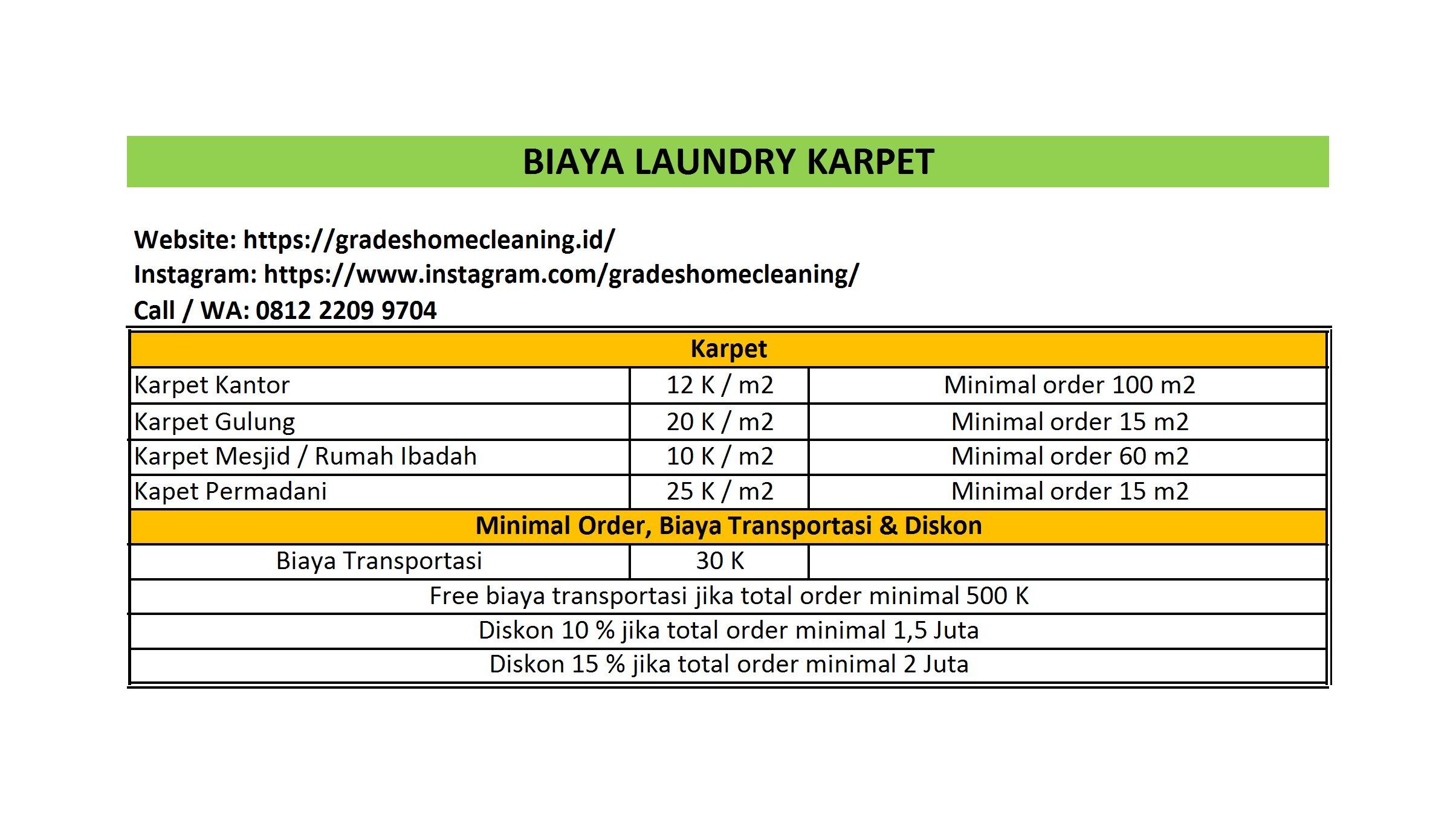 biaya cuci karpet di depok