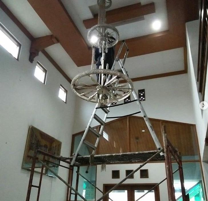 cuci lampu hias bandung